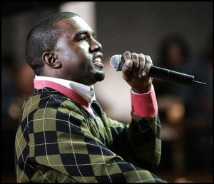 Kanye West in an Argyle Sweater