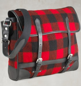 Rugby Buffalo Plaid Messenger Bag