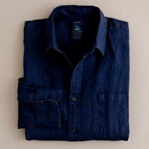 Baird McNutt Linen Shirt in Navy $50