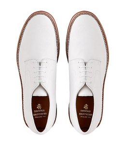 Brooks Brothers Classic Buck in White $150