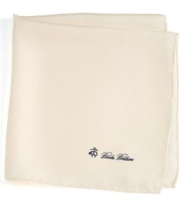 Brooks Brothers White Pocket Square