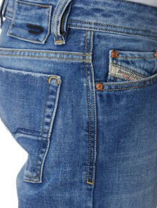 Handsome wash with simple back pocket and signature coin pocket