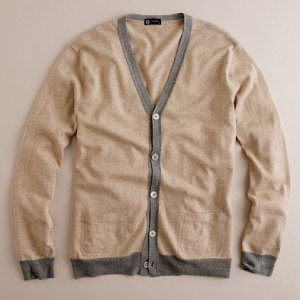 J. Crew Lightweight Cotton-Wool Contrast Cardigan (69.50)