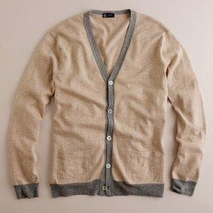 J. Crew Lightweight Cotton-Wool Contrast Cardigan (69.50)