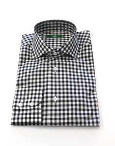 Lugo Parioli Black Gingham Shirt
