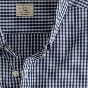 J. Crew Blue Gingham Check Shirt