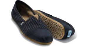 Toms Vegan Blue Patchwork Shoe $48