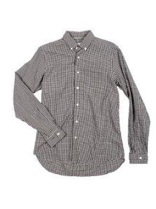 Steven Alan Organic Black Gingham Shirt $178