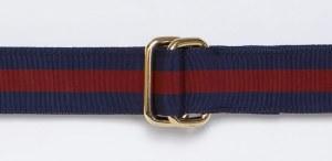 J. Press Ribbon Belt in Wine and Navy