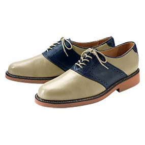 Orvis Saddle Shoe in Blue and White