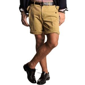 Herringbone Twill Military Shorts by hickey