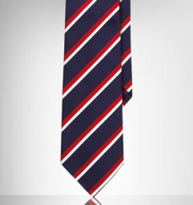 Ralph Lauren Purple Label Navy Mogadore Tie