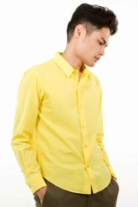 Lad Musician Bright Yellow Button-Down