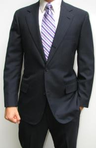 Brooks Brothers Navy Pinstripe 40R Suit, $19.99