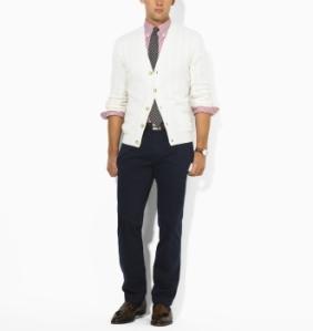 Ralph Lauren Slim-Fit Navy Chinos