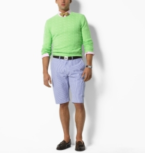 Polo Ralph Lauren Roundhill Seersucker Short in Blue