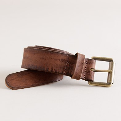 J. Crew Distressed Leather Belt