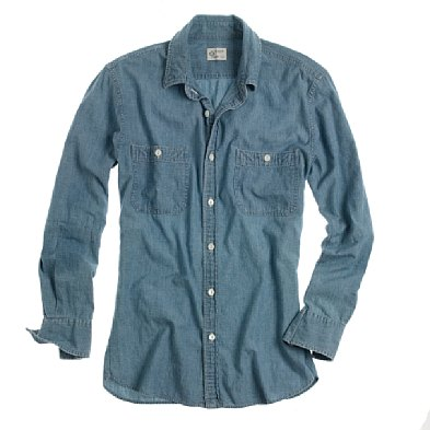 J. Crew Indigo Chambray Workshirt