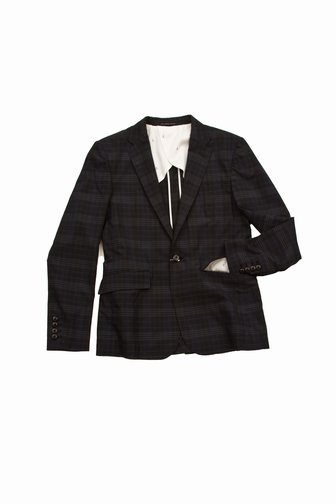 Whereabouts Navy/Green Plaid Blazer