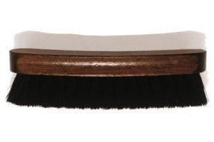 A horsehair shoe polishing brush