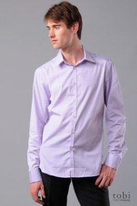 J. Lindeberg Lavender Slim-Fit Shirt