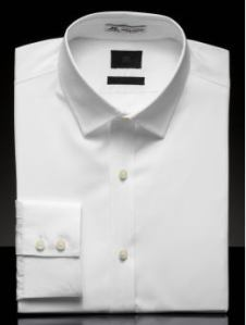 Banana Republic BR Monogram White Dress Shirt