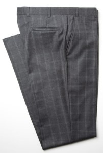 J. Press Windowpane Grey Dress Trouser