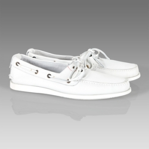 Paul Smith Hashbury Boat Shoe in White