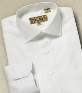 Paul Stuart Sussex Pinpoint White Dress Shirt