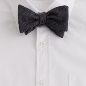 6. J. Crew Wool Bow Tie