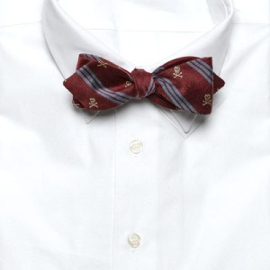 7. Hickey Skull and Crossbones Bow Tie