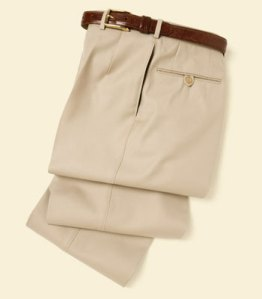 Paul Stuart Tan Tropical Weight Wool Trousers