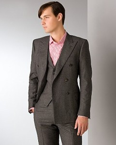 Spurr Double Breasted Peak Lapel Sport Coat