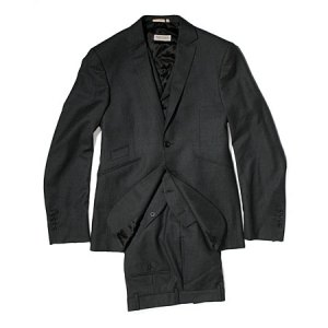 Aquascutum Charcoal Three-Piece Suit