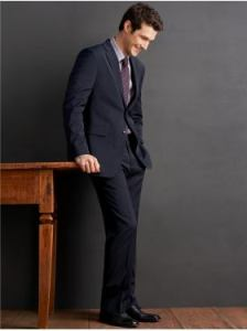 Banana Republic Wool Navy Suit