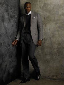 Hickey Freeman Limited Edition Grey Tweed Cashmere Blazer