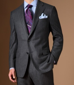 Paul Stuart Suit with Flap Pockets