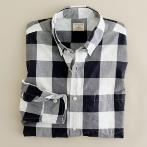 J. Crew Large Gingham Shirt