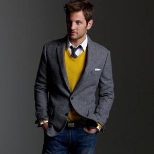 J. Crew Solid Tweed Sportcoat