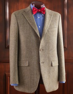J. Press 3-button Wool/Cashmere Blend Sport Coat in Olive Tweed