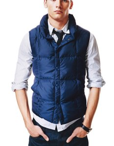 Land's End Navy Down Vest