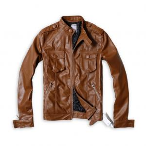 Dior Homme Brown Leather Jacket
