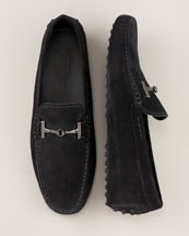 Tod's Gommini Nuovo Driver Slipper in Black