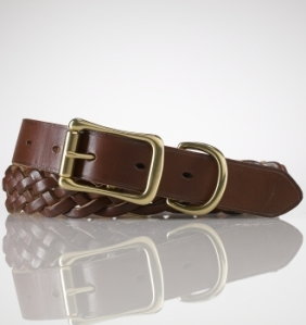 Ralph Lauren Saddle Leather Braided Belt