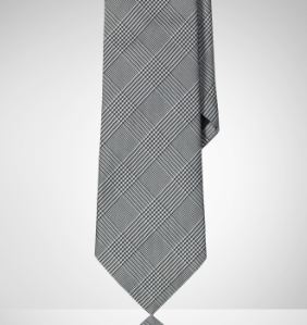 Ralph Lauren Black Label Glen Plaid Tie