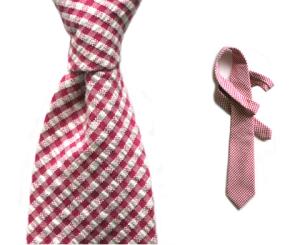Alexander Olch Seersucker Gingham Tie