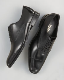 Ferragamo Cap Toe Oxfords