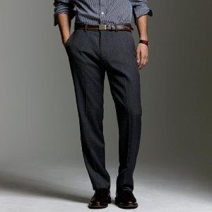 J. Crew Wool Herringbone Trousers