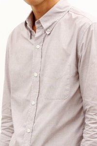 Band of Outsiders Grey Button-Down Oxford