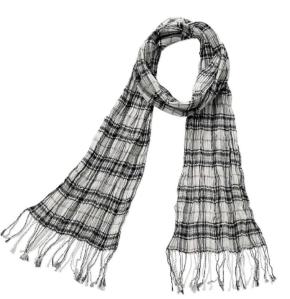 Cotton Check Scarf $15.50